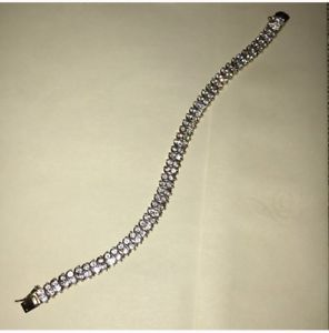 【送料無料】ブレスレット アクセサリ― スターリングシルバーブレスレットcz gold plated sterling silver bracelet