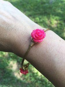 【送料無料】ブレスレット アクセサリ― バーボンピンクバラサイズブレスレットbourbon and boweties small pink rose standard size bracelet