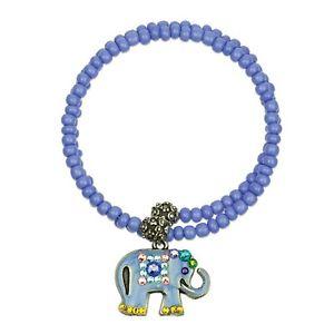 【送料無料】ブレスレット アクセサリ― ビーズブレスレットセレニティアンwomens beaded bracelet with elephant charm serenity wrapsody by anne koplik