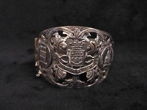 【送料無料】ブレスレット アクセサリ― ビンテージドパリシルバーメッキブレスレットvintage souvenir de paris silver plated copper bracelet