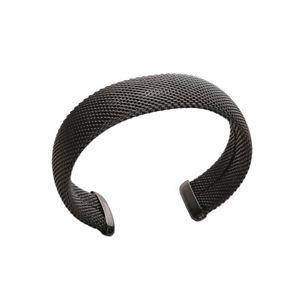 【送料無料】ブレスレット アクセサリ― ブレスレットノワールkbc bracelet jonc rigide acier ruthnium noir 17mm