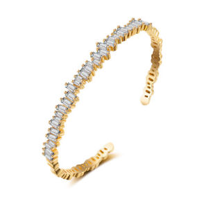 【送料無料】ブレスレット アクセサリ― 4mmczレースg7 2gold bracelet open adjustable lace dippy cz gold plated 4mm wedding g7 2