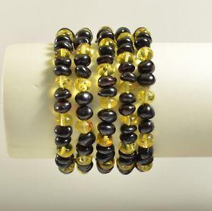 【送料無料】ブレスレット アクセサリ― バルトブレスレットロットマルチカラーlot of 5 whole baltic amber bracelet multi color adult 30,6 g ta2148