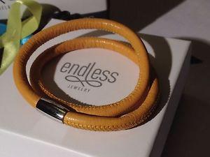 【送料無料】ブレスレット アクセサリ― ブレスレットシルバークラスプendless jewelry 40cm yellow bracelet double strand silver clasp rrp 50