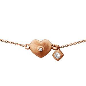 【送料無料】ブレスレット アクセサリ― シルバーハートブレスレットassymetric silver heart bracelet