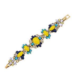 【送料無料】ブレスレット アクセサリ― ジェーンレトロgolden bracelet thin multicoloured floral turquoise blue navy jane retro