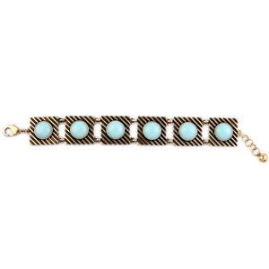 【送料無料】ブレスレット アクセサリ― ブレスレットリバイバルct 5bracelet golden rectangle engraving geometric turquoise blue round retro ct 5