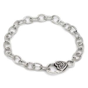 【送料無料】ブレスレット アクセサリ― シルバーロブスタークラスプチェーンブレスレット20x5 silver tone heart lobster clasp chain bracelets 20cm k8r9