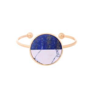 【送料無料】ブレスレット アクセサリ― ブレスレットタフアールデコホワイトct9bracelet tough open golden art deco round lapis lazuli blue white marble ct9