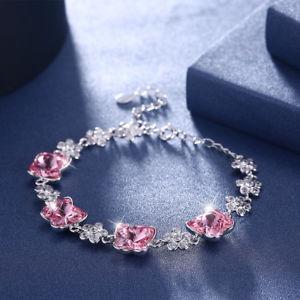 【送料無料】ブレスレット アクセサリ― 925 オーストリアチェーンブレスレット925 silver women crystals from austria famous brand chain charm bracelet luxury