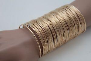 【送料無料】ブレスレット アクセサリ― メタルロングワイドカフブレスレットファッションジュエリーファンシードレッシーwomen gold metal long wide cuff bracelet fashion jewelry bulky fancy dressy look