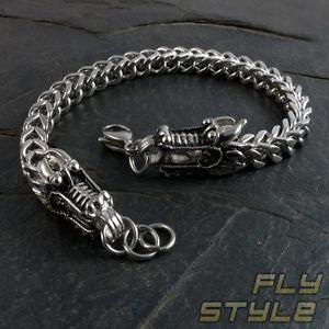 【送料無料】ブレスレット アクセサリ― ドラゴンヘッドブレスレットステンレスシルバーdragon head bracelet 316 l stainless steel 18 23 cm silver brst004