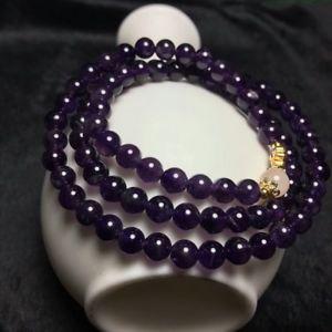 【送料無料】ブレスレット アクセサリ― アメジストブレスレットラウンドビーズgenuine natural purple amethyst crystal bracelet round beads 68mm aaa