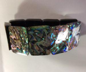 【送料無料】ブレスレット アクセサリ― アワビシェル75ブレスレットchunky abalone shell stretch bracelet 75