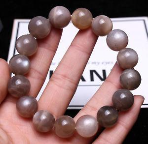 【送料無料】ブレスレット アクセサリ― ムーンストーンライトクリスタルビーズブレスレット13mm natural moonstone sunstone strong light crystal beads bracelet aaaa