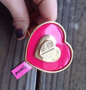 【送料無料】ブレスレット アクセサリ― ジョンソンピンクヒンジブレスレットbetsey johnson pink heart hinged bracelet