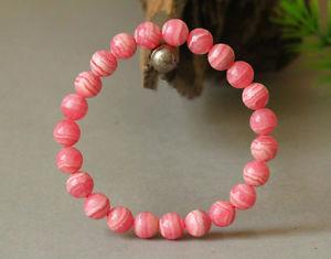 【送料無料】ブレスレット アクセサリ― ローズアルゼンチンラウンドビーズブレスレットnatural rose rhodochrosite gemstone argentina round beads bracelet 7mm aaa