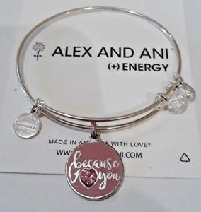 【送料無料】ブレスレット アクセサリ― アレックスピンクシルバーブレスレットalex and ani because i love you pink crystal shiny silver expandable bracelet