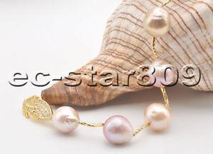 【送料無料】ブレスレット アクセサリ― ラベンダーピンクエジソンパールブレスレットp6544 8 16mm almostround lavender pink edison keshi pearl bracelet