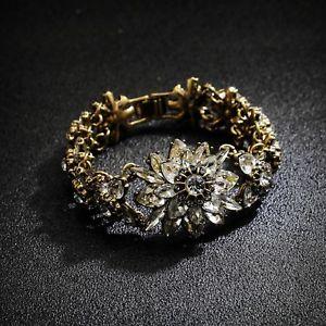 【送料無料】ブレスレット アクセサリ― フローラルクリスタルレトロビンテージpulsera floral cristal brillante retro antiguo vintage estilo clase matrimonio