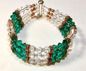 【送料無料】ブレスレット アクセサリ― クリスタルブレスレットスペーサーハンドメイドサイズbeautiful wow crystal bracelet copper spacers handmade size 8