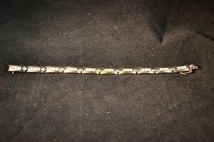 【送料無料】ブレスレット アクセサリ― ゴールドトーンスターリングシルバーブレスレット725 gold tone sterling silver amp; cz bracelet