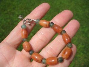 【送料無料】ブレスレット アクセサリ― シルバーヒスイビーズブレスレットタイ925 silver natural jade stone mineral bead bracelet thailand jewelry art