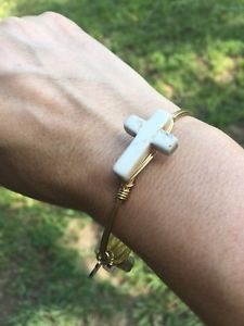 【送料無料】ブレスレット アクセサリ― バーボンクロスサイズブレスレットbourbon and boweties cross stone standard size bracelet