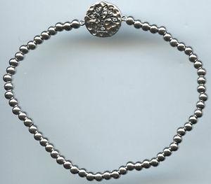 【送料無料】ブレスレット アクセサリ― スターリングシルバーツリーストレッチブレスレット3mm 925 sterling silver amp; cz tree of life stretch bracelet
