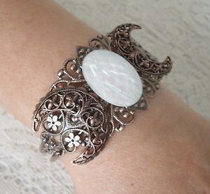 【送料無料】ブレスレット アクセサリ― トリプルムーンカフブレスレットcopper triple moon cuff bracelet, wiccan pagan wicca goddess witch witchcraft