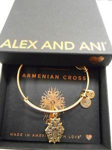 【送料無料】ブレスレット アクセサリ― アレックスアルメニアクロスワイヤーブレスレットラファエリアンゴールドalex and ani armenian cross iv expandable wire bracelet rafaelian gold nwtbc