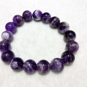 【送料無料】ブレスレット アクセサリ― アメジストラウンドビーズブレスレットブレスレットa natural dream amethyst round beads bracelet healing bracelet 12mm