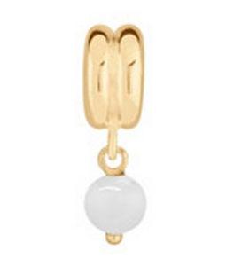 【送料無料】ブレスレット アクセサリ― ビーズペンダントミントlovelinks by pastiche white bead pendant gold plated silver tp008wg mint