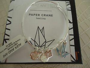 【送料無料】ブレスレット アクセサリ― アレックスブレスレットタグカードボックスalex and ani paper crane shiny silver charm bracelet w tag card amp; box