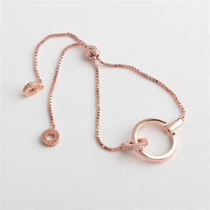 【送料無料】ブレスレット アクセサリ― リンクスライダーブレスレットローズゴールド henri bendel pave link slider bracelet rose gold