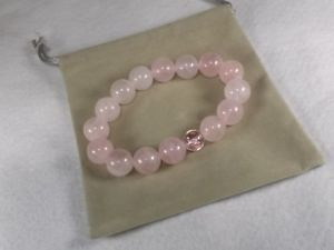 【送料無料】ブレスレット アクセサリ― aaaローズコーツbsakuraアクセント12mm12 mm natural stone aaa rose quartz bracelet b sakura sculpture crystal accents