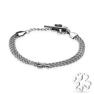 【送料無料】ブレスレット アクセサリ― ブレスレットバイカーステンレススチールトリプルコードツイストシルバーcoolbodyart bracelet biker stainless steel triple cord twisted silver with