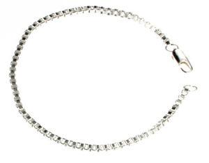 【送料無料】ブレスレット アクセサリ― ヴェネチアンボックスチェーンブレスレットイタリアoriginal venetian box chain bracelet silver plated 2,6mm 59106 from italy