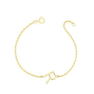 【送料無料】ブレスレット アクセサリ― イエローゴールドメッキシルバーパーソナライズリンクブレスレットpersonalized 12 side initial link bracelet in yellow gold plated silver