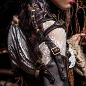 【送料無料】ブレスレット アクセサリ― ケープエンベロープラsteampunk rtro en cuir bras chauffe bolro chle cape enveloppe la veste