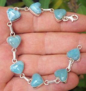 【送料無料】ブレスレット アクセサリ― larimar925スターリングbracelet ha21blue heart larimar stones 925 sterling silver bracelet ha21