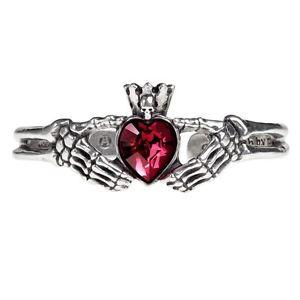 【送料無料】ブレスレット アクセサリ― ゴシックッドクラダピューターブレスレットブランドalchemy gothic claddagh by night pewter bracelet brand
