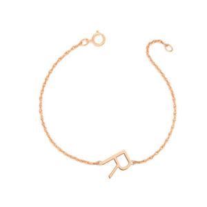 【送料無料】ブレスレット アクセサリ― パーソナライズローズゴールドメッキリンクブレスレットpersonalized 12 side initial link bracelet in rose gold plated silver