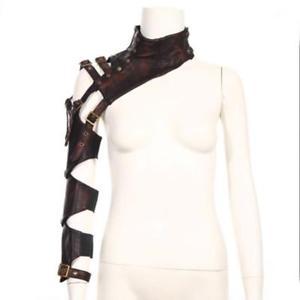 【送料無料】ブレスレット アクセサリ― レザーショールケープラップコートsteampunk leather shawl cape wraps coat for women lady girls nightwear