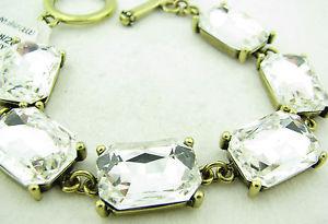 【送料無料】ブレスレット アクセサリ― プリンセスアマンダラインブレスレットドルクリアトグル princess amanda clear 7 12 line toggle bracelet hsn nwt 6995