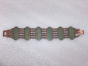 【送料無料】ブレスレット アクセサリ― ビンテージエナメルブレスレットvintage very nice copper and enamel bracelet