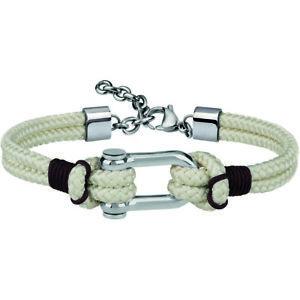 【送料無料】ブレスレット アクセサリ― ブレスレットオスホワイトロブスタークラスプoriginal breil bracelet wired male white lobster clasp tj2608