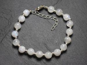 【送料無料】ブレスレット アクセサリ― 92578mm925 silver bracelet and moon stone rainbow 78mm