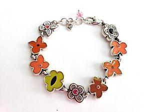 【送料無料】ブレスレット アクセサリ― brightonエナメルマルチブレスレットbrighton meadow art enamel multi color flower bracelet