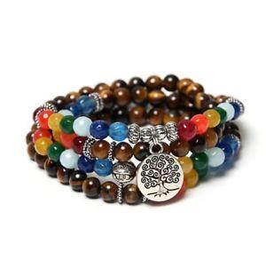 【送料無料】ブレスレット アクセサリ― ライフペンダントビーズブレスレットツリーtree of life pendant multilayer beaded bracelets natural stone for women